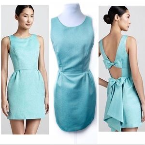 Erin Fetherston 4 Blue Fit Flare Dress Bow Cut Out
